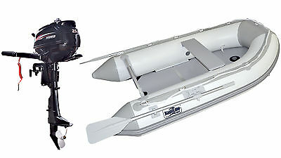Nautiline inflatable boat  PLYWOOD 270 with Hidea outboard engine - 4 strokes 2,