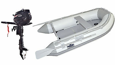 Nautiline inflatable boat PLYWOOD 360 with Hidea outboard engine - 4 strokes 2,5