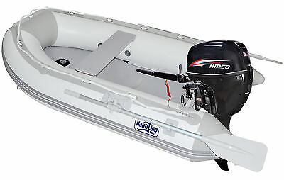 Nautiline inflatable boat PLYWOOD 420 with Hidea outboard engine - 4 strokes 15