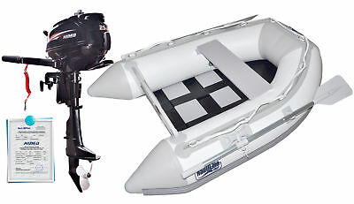 Nautiline inflatable boat tender SLAT 185 with Hidea outboard engine - 4 strokes