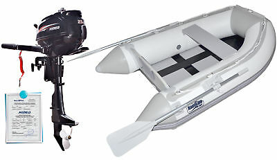 Nautiline inflatable boat tender SLAT 200 with Hidea outboard engine 4 strokes 2