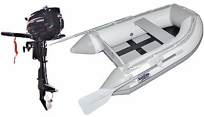 Nautiline inflatable boat tender SLAT 230 with Hidea outboard engine - 4 strokes