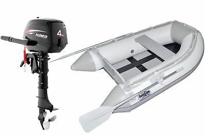 Nautiline inflatable boat SLAT 250 with Hidea outboard engine - 4 strokes 4 Hp -