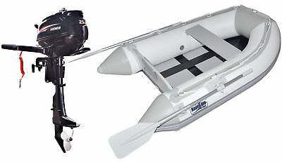 Nautiline inflatable boat tender SLAT 250 with Hidea outboard engine - 4 strokes