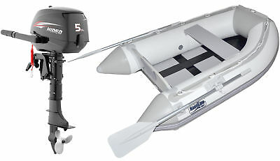 Nautiline inflatable boat SLAT 250 with Hidea outboard engine - 4 strokes 5 Hp -