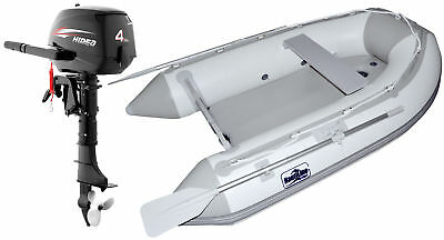 Nautiline inflatable boat Air Mat 248 with Hidea outboard engine - 4 strokes 4Hp