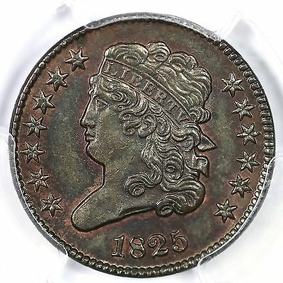 1825 c-2 PCGS MS63BN Classic Head Half Cent Coin 1/2c