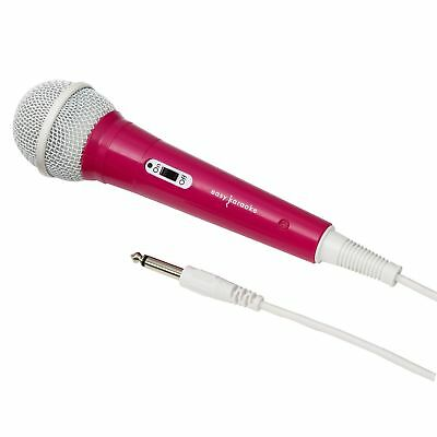 Unidirectional Pink Microphone Ideal As A Karaoke Mic