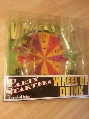 NEW The Jay Companies Wheel Of Drink Shot Glass Game Board Party Starters