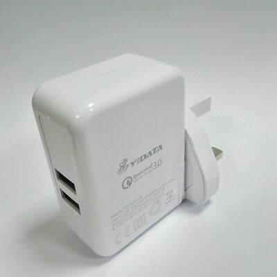 YIDATA USB Wall Charger Compact Dual Port 2.4A Output & Foldable Plug for iPhone
