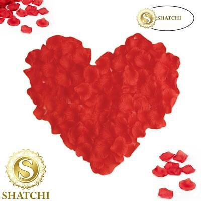 200 Deep Red Silk Rose Petals - Great For Valentines Decorations