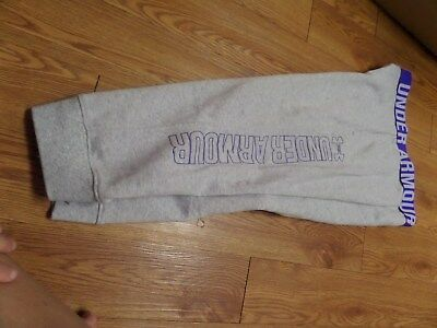 bnwt girls under armour sweats-gray-size ylg loose fit gray-cuffed bottom-SOFT