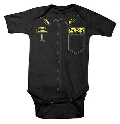 "NWT Smooth Industries ""Mechanix Wear"" Infant Romper, 6-12 month"