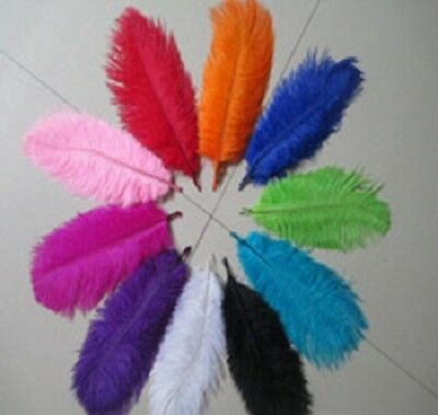 20cm - 25cm Long Fluffy OSTRICH FEATHERS - Packs of 10 Good Quality Arts Crafts