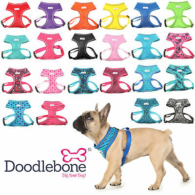 Doodlebone Dog Puppy Harness AirMesh Padded Soft Walking Vest 5 Sizes 13 Colours