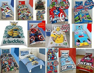 New Disney Character Kids BOYS Bedding Single & Double Duvet Cover Bed Sheet Set