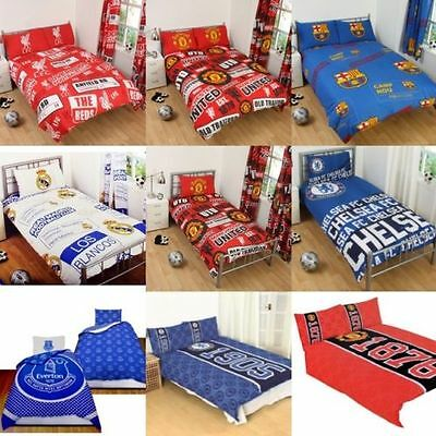 New Football Lovers Kids BOYS Bedding Single & Double Duvet Cover Bed Sheet Set