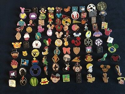 Disney Trading Pins Lot Of 50 -100% Tradable - No Duplicates - Fast U.s Shipper