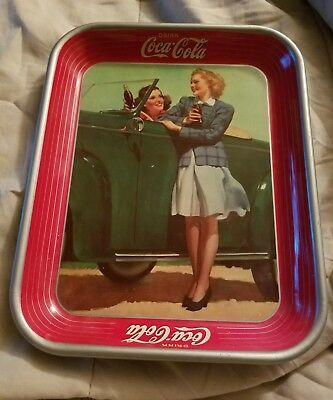 Vintage 1942 Coca Cola Tray by American Art works Co - Coshocton, Oh