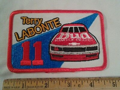 Vintage Terry Labonte Patch Bud Budweiser #11 Nascar Racing