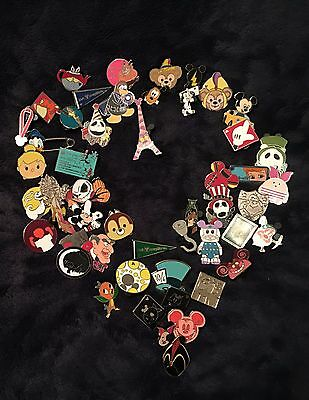 Disney Trading Pins Lot Of 50 - 100% Tradable - No Doubles- Fast U.s. Shipper