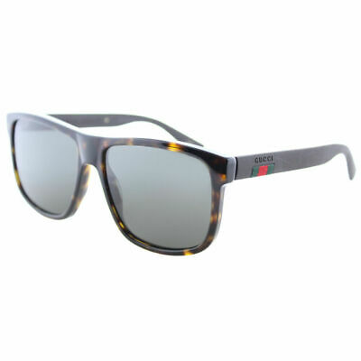 5e162faf5e Gucci GG0010S 003 Dark Havana Plastic Sunglasses Dark Grey Polarized Lens