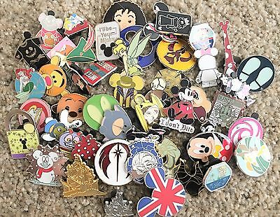 Disney Trading Pins Lot Of 100 - 100% Tradable - No Doubles- Fast U.s. Shipper