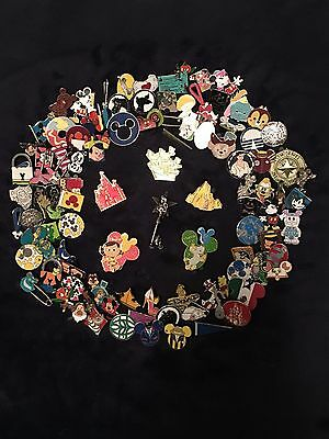 Disney Trading Pins Lot Of 75 - 100% Tradable - No Doubles- Fast Us Shipper