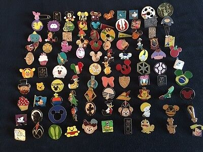 Disney Trading Pins Lot Of 75 -100% Tradable - No Duplicates - Fast U.s Shipper
