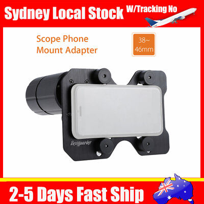 Adjustable Phone Mount Adapter Spotting Scope Holder 38-46MM W/ Universal Plate