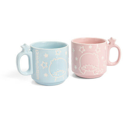 SANRIO LOOT CRATE Little Twins Stars Stackable Mugs - Set of 2.  Fast Shipping!
