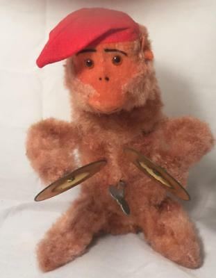 Made In Japan  Wind-Up Musical Monkey Plays Cymbols & Bounces Up & Down Works