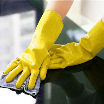 Household Rubber Goves Long for Cleaning Dish Washing Gloves Soft Protect Hands