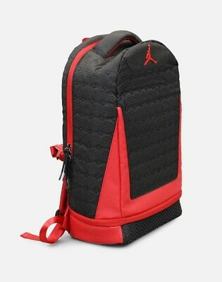 1c4295c1285567 NIKE AIR JORDAN Retro 13 XIII Backpack Bag Black And Red Bred 9A1898 ...