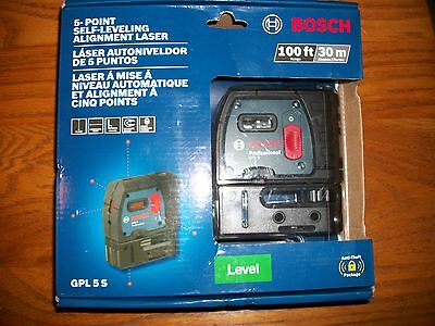 *BOSCH 5 Point Self Leveling Alignment Laser #GPL5S : NEW;   upc #00034645433
