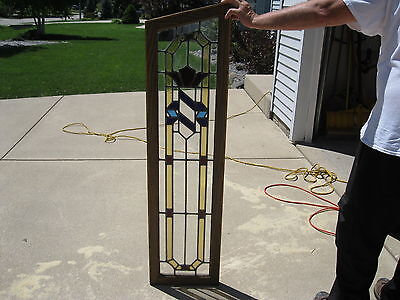 Architectural Salvage Antique Stained Glass Window Chicago Bungalow Circa 1914