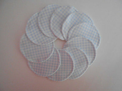 Cloth Nursing Pads Reusable Flannel 5 Pairs 10 Total Blue White Makeup Remover
