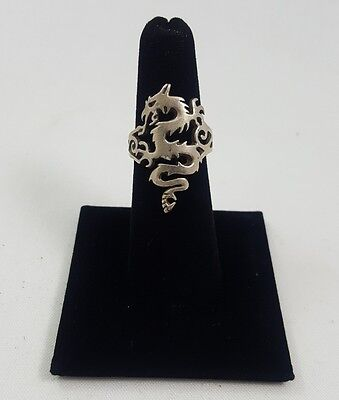 Silver Dragon Ring (O)