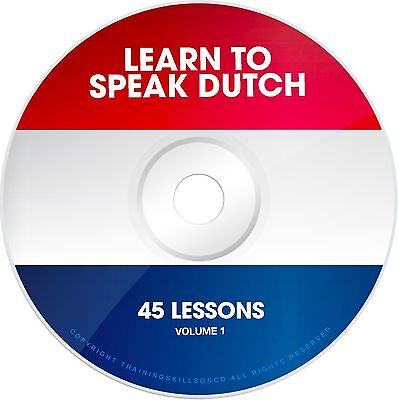 LEARN TO SPEAK BASIC DUTCH Language Phrases Words PDF ebook on CD