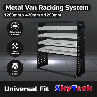 Van shelving Guard 4 Shelf Trays Steel Racking Storage 126cm*43cm*129cm B9-VS009