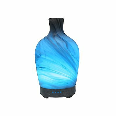 COOSA 100ml Essential Oils Diffuser Glass Marble Pattern with 4 Time Setting ...