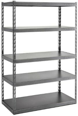 Gladiator 72In H X 48In W X 24In D 5-Shelf Steel Garage Shelving Unit EZ Connect
