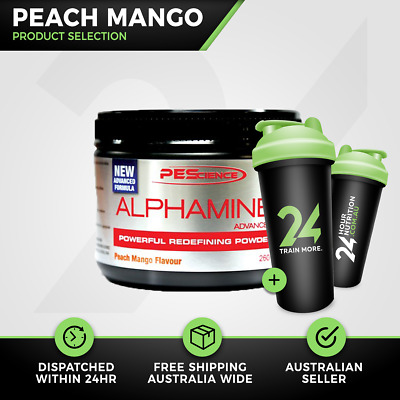 Alphamine Advanced Physique Enhancing Science | 42 Srv Peach Mango | Free Gift!