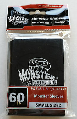 Yugioh Monster Protectors BLACK LOGO Glossy Non-Textured Deck Protectors/Sleeves