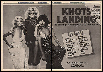 KNOTS LANDING__Orig. 1985 Trade AD / TV series promo__DONNA MILLS__JOAN VAN ARK