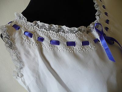 Antique French Night Gown French Lingerie French Lace Antique French Linen
