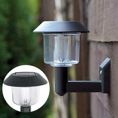 Bright LED Solar Powered Fence Gate Wall Lamp Post Light Outdoor Garden Yard BA