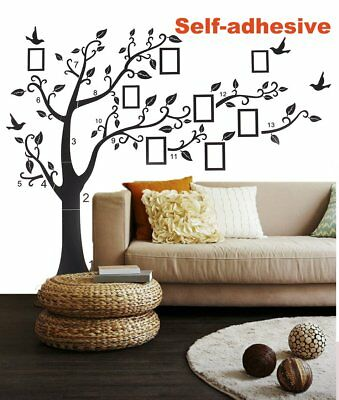 LARGE FAMILY Photo Frame Quotes Wall Stickers Home Thanksgiving ...