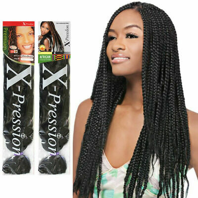 "4 Packs X-pression Xpression Expression 82"" Ultra Braid Hair  2-3 day shipping"