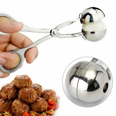 Stainless Steel Stuffed Meatball Clip Maker Mold Cooking Kitchen Tool Non Stick